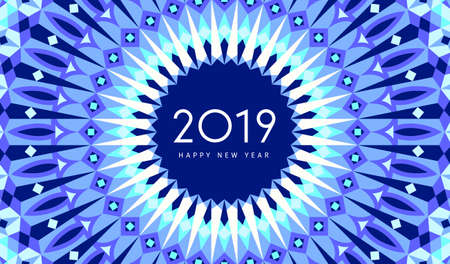 2019 New Year greeting card. Traditional Islamic design background. Vector illustration