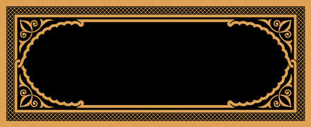 Arabic Floral Frame for your design. Traditional Islamic Design. Mosque decoration element. Elegance Background with Text input area in a center.