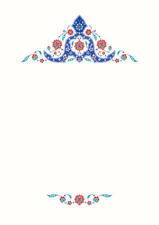 Floral pattern for your design. Traditional Turkish – OttomanTemplate. Iznik. Vector background.