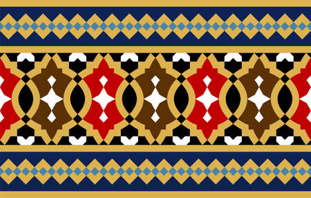 Morocco Seamless Border. Traditional Islamic Design. Mosque decoration element.