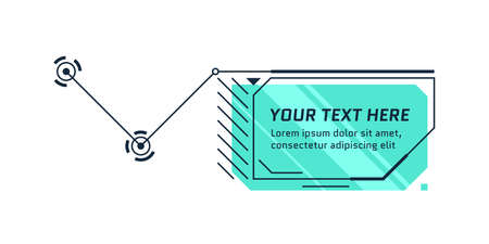 HUD future style callout title. Infographic call out box bar and modern digital info frame layout template. Interface UI and GUI textbox element. Vector illustration