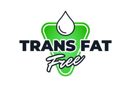 Trans fat free green badge for diet control icon.