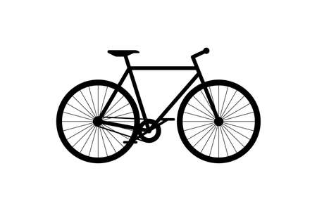 Bicycle black icon. Cycle silhouette sign on white background. Bike city transport vehicle symbol vector eps illustration Illusztráció