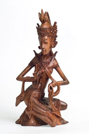 delimit: Wood carved statue - Bali - Indonesia