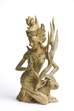 holiday budget: Wood carved statue - Bali - Indonesia