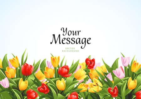 les fleur: Fond de fleurs Illustration