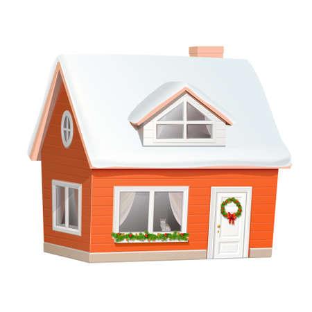 Christmas house Фото со стока - 16818728
