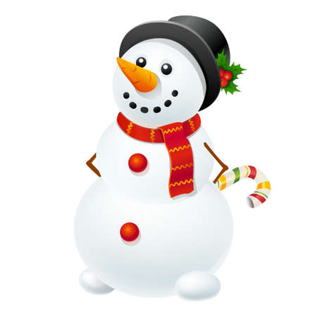 Christmas snowman Иллюстрация
