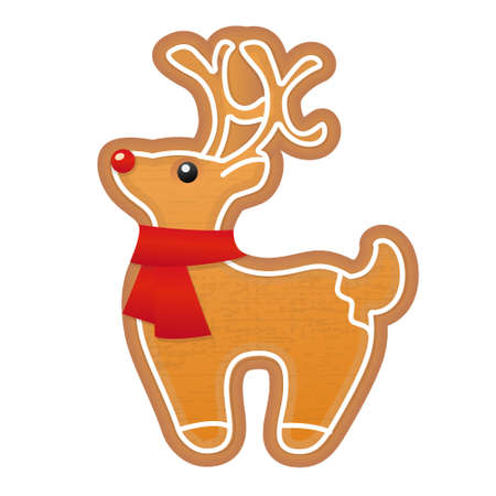 Christmas gingerbread deer Vector