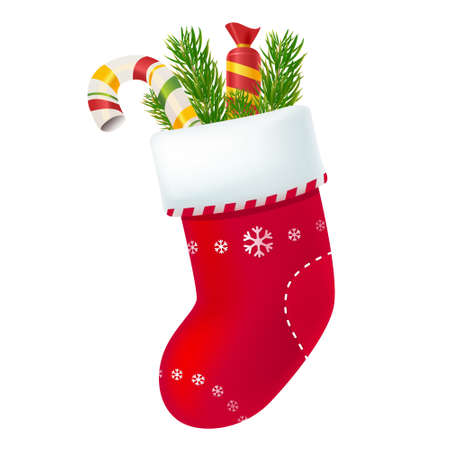 Christmas sock with presents