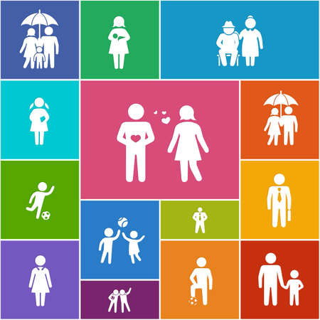 Family and friends icons