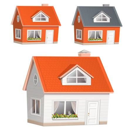 Vector illustration of highly detailed house icon