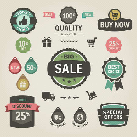 discount banner:  Set of stickers, labels, tags and icons. Solid colors. Set of stickers, labels, tags and icons. Solid colors.