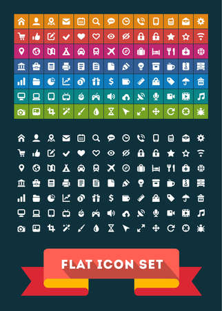 flat brush: Universal Flat Icon Set.