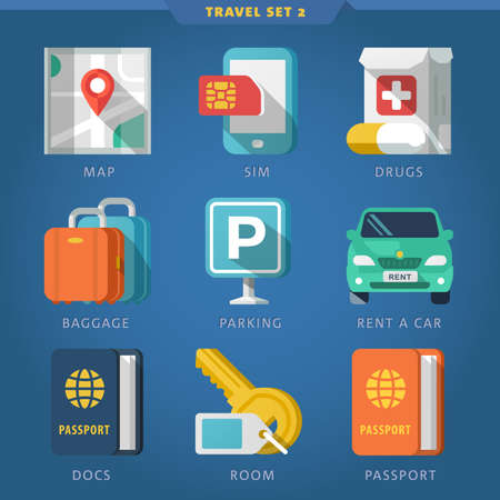 Travel icon set 2. Illustration