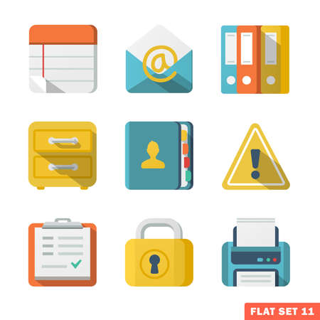 Office Flat icons. Stock Vector - 22446279
