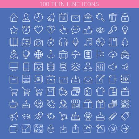 Icon set for Web and Mobile. Light version Illustration