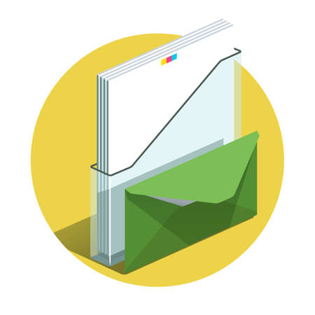 Vector illustration of detailed Office docs icon.