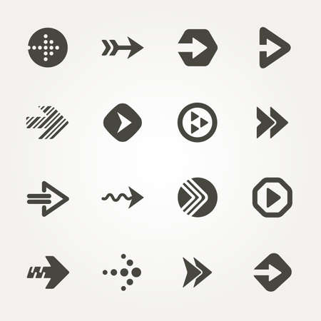 Vector Arrow signs. Icon set 2. Illustration