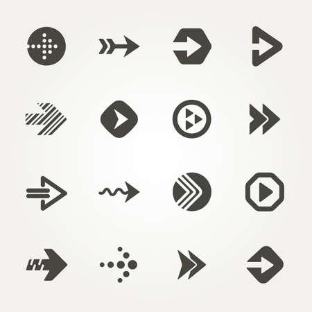 Vector Arrow signs. Icon set 2. Illustration