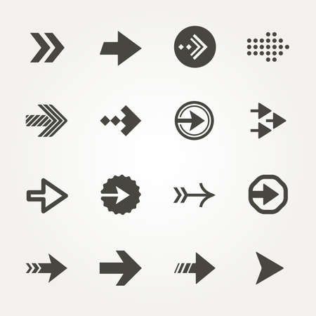 Vector Arrow signs icon set 3.