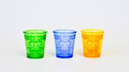 bendable: Tiki glasses colorful blank on a white background