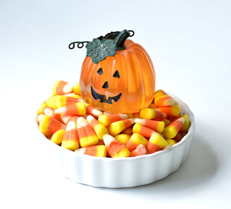 Halloween candy corn orange delicious sweet for the holiday. photo