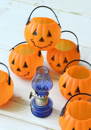 Pumpkins Decorations for Halloween photo