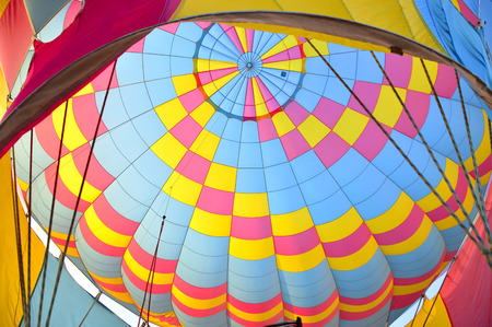 Balloon beautiful big colorful in the sky. Banque d'images