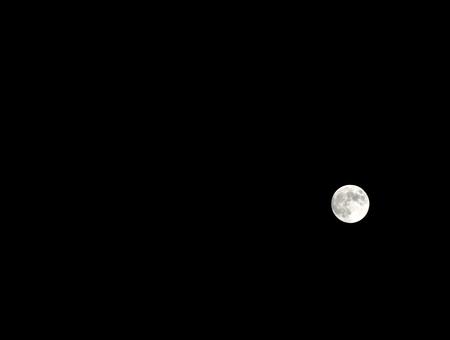 Beautiful moon light full on black sky. Reklamní fotografie