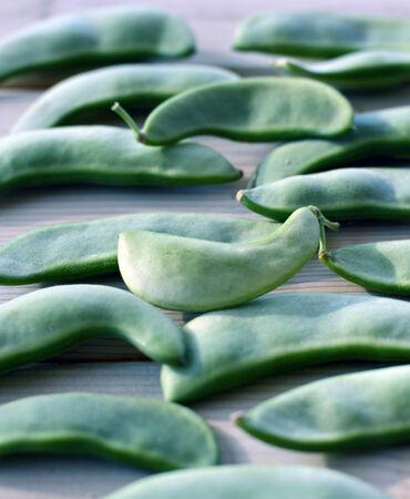 lima bean: Lima bean pods fresh crunchy green tasty ripe.