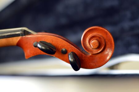 fiddlestick: Violin music wooden instrument with metal strings.