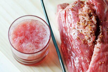 Marinade for fresh juicy raw  corned beef