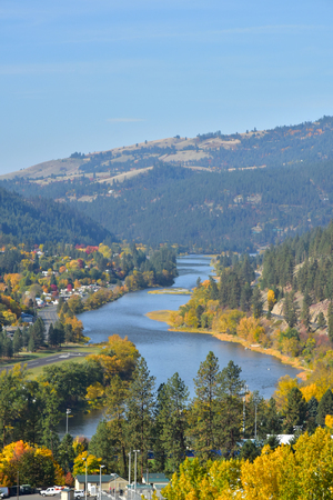 Clearwater River Idaho USA big water Orofino 写真素材