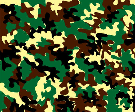 yelllow: classic green camouflage background