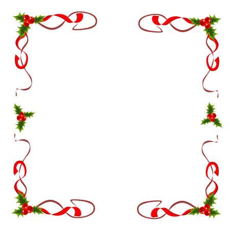 nastro angolo: Decorazioni natalizie Archivio Fotografico