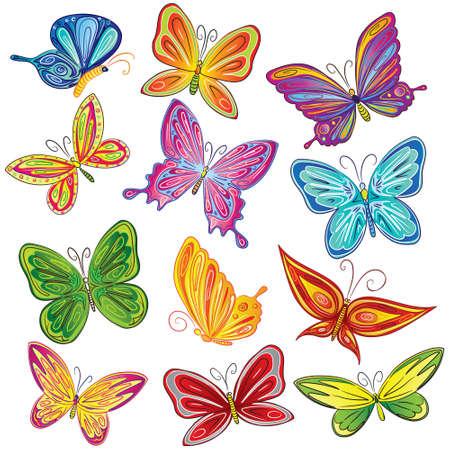 Beautiful butterfly set