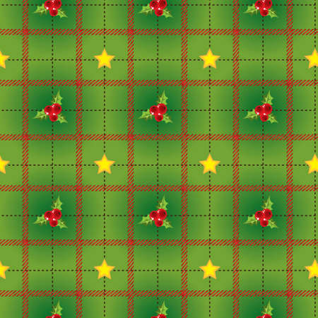 Ciclic pattern with holly berry Stock Photo - 5907711