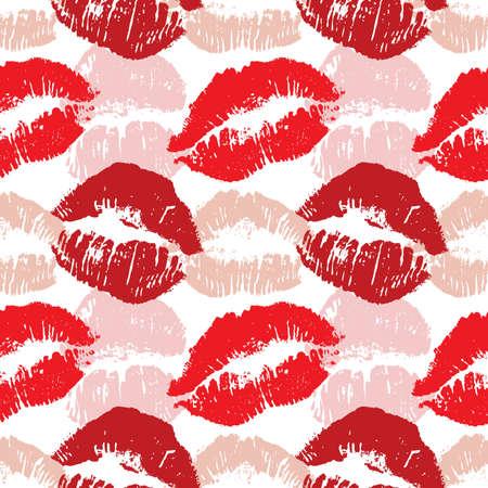 Lip prints cyclic pattern