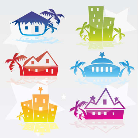 hotel icons  Stock Vector - 8143593