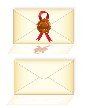 envelope with letter: Lettera di busta posta