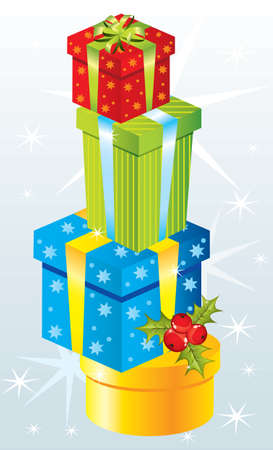 red gift box: Christmas gifts