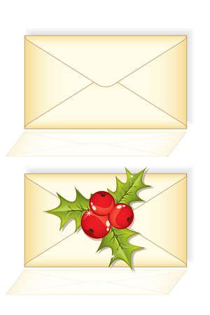 envelope with letter: Lettera di busta posta di Natale Vettoriali