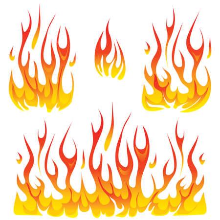 brandweer cartoon: brand designelementen