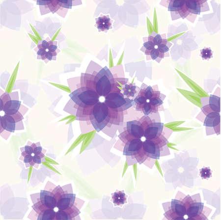 Seamless violet flower pattern Stock Vector - 8204692