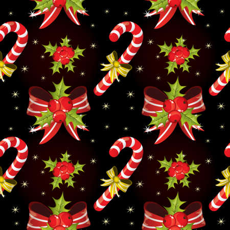 Seamless Christmas pattern photo
