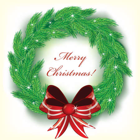 seasonal symbol: Christmas wreath