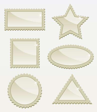 post stamp: set di timbro vecchi post