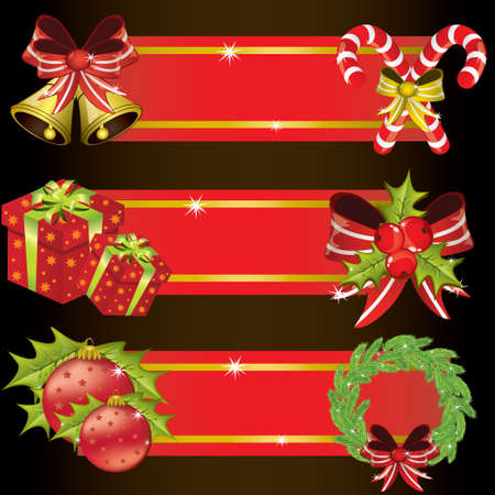 Set of Christmas banners Vector