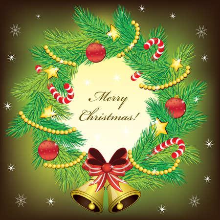 candycane: Christmas wreath